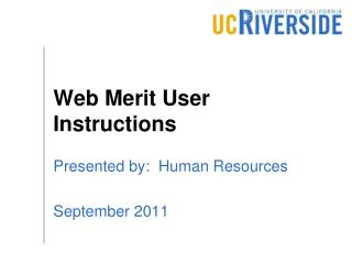 Web Merit User Instructions