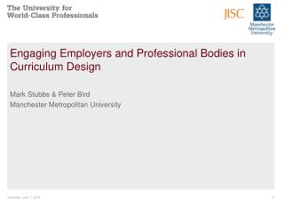 Engaging Employers and Professional Bodies in Curriculum Design