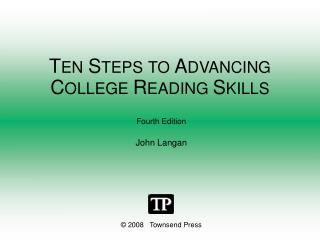 TEN STEPS TO ADVANCING