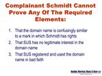 "1A. Schmidt Has No Rights In ""Schmidt Estates"""