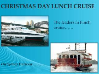 christmas lunch cruise sydney