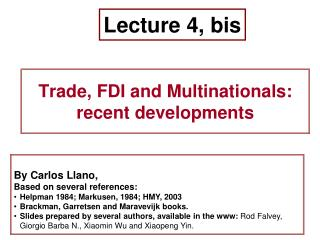 Lecture 4, bis