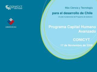 M s Ciencia y Tecnolog a para el desarrollo de Chile Un pilar fundamental del Programa de Gobierno