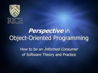 Perspective in Object-Oriented Programming