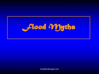 Flood Myths
