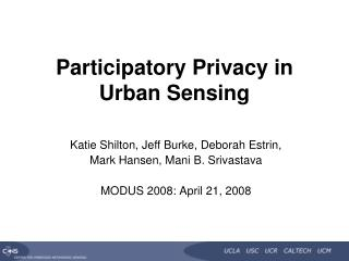 Participatory Privacy in 