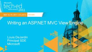 Writing an ASP MVC View Engine