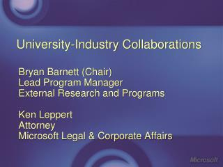 University-Industry Collaborations