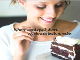 Spread the message of sweetness with cakes