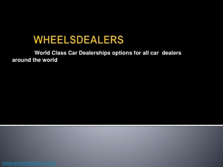 wheelsdealers - Used car dealers in Kenya