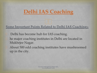 Are you Wanted To Join Delhi IAS Coaching