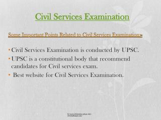 The best way to prepare for civil services examination
