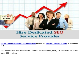 Best SEO Service Provider in India