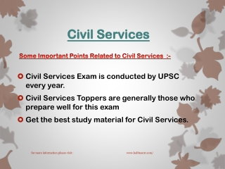 Get the best study material for Civil Services