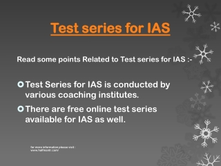 Are you looking for Test series for IAS