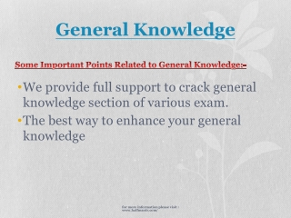 Increase your general knowledge