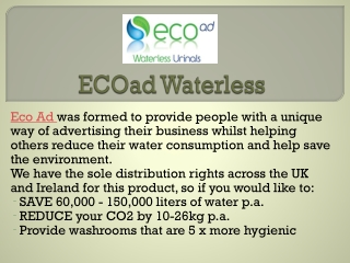 Know about Waterless Urinals Installation process at EcoAd