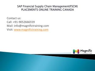 Sap Financial Supply Chain Management(FSCM)canada