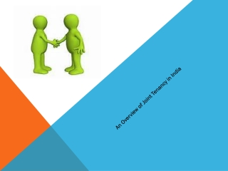 An Overview of Joint Tenancy in India