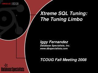 Xtreme SQL Tuning: The Tuning Limbo