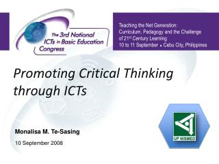 Promoting Critical Thinking  through ICTs