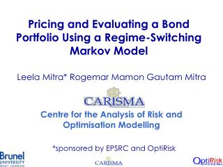 Pricing and Evaluating a Bond Portfolio Using a Regime-Switching Markov Model