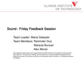 Sound - Friday Feedback Session