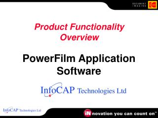 Product Functionality Overview  PowerFilm Application Software