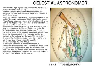 CELESTIAL ASTRONOMER.