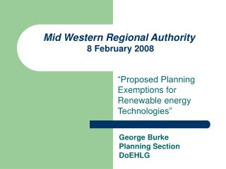Mid Western Regional Authority   8 February 2008