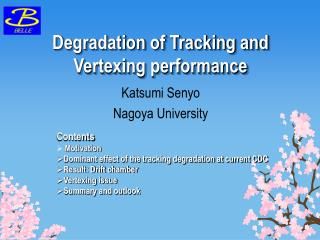 Degradation of Tracking and Vertexing performance