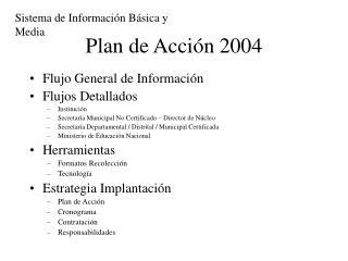 Plan de Acci n 2004