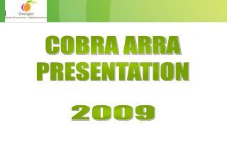 COBRA ARRA PRESENTATION