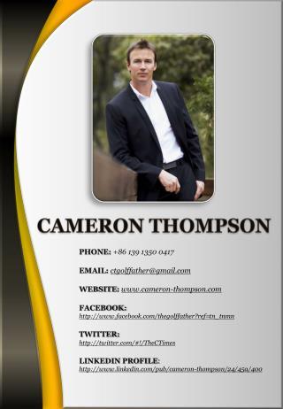 CAMERON THOMPSON