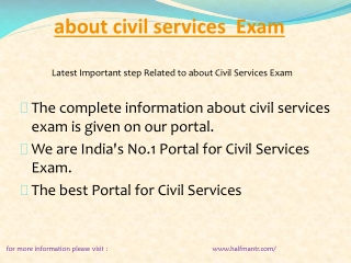Some content For about civil services exam