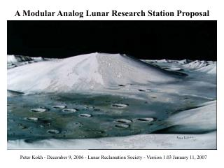 A Modular Analog Lunar Research Station Proposal