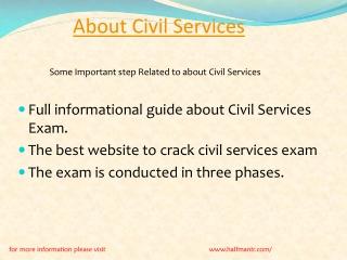 Content For About Civil Services