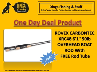 ROVEX CARBONTEC XRC48 6'1'' 50LB OVERHEAD BOAT ROD With FREE