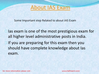 Some content  about IAS exam