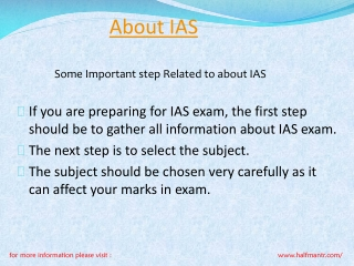 Contet For About IAS