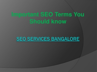 Important SEO Terms You Should know