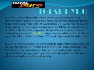 Know about UK Best Firework Company