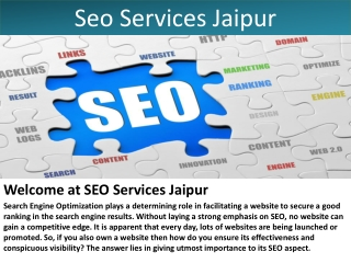 Seo Services Jaipur