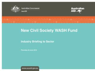 New Civil Society WASH Fund
