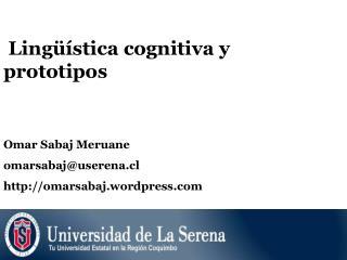Lingüística cognitiva y prototipos