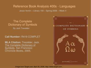 Reference Book Analysis 400s - Languages