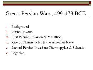 Greco-Persian Wars, 499-479 BCE