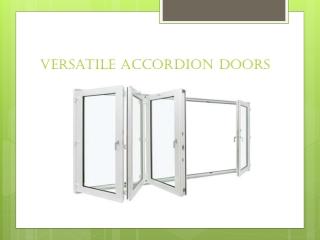 Versatile Accordion Doors