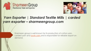 Yarn Exporter | Cotton Yarn Exporter | Pakistan Origin Yarn