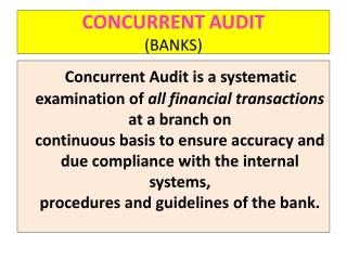 How to Conduct Concurrent Audit of Banks